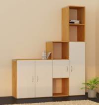 b cherregale mit t ren. Black Bedroom Furniture Sets. Home Design Ideas